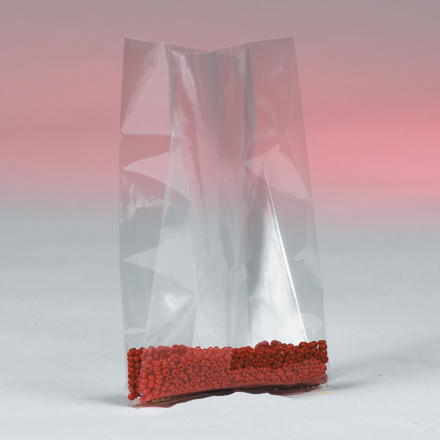 "10 x 8 x 24"" - 4 Mil Gusseted Poly Bags"